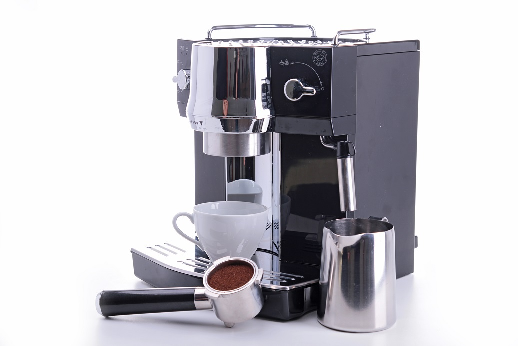 coffeemaker and cup