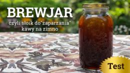 """Brewjar, czyli słoik do """"zaparzania"""" kawy na zimno."""