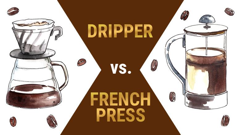 Dripper vs french press: jaka jest różnica pomiędzy tymi metodami parzenia kawy?